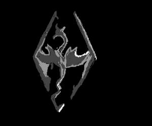 Very detailed Skyrim logo