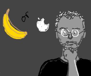 Steve Jobs torn between Apple and Banana