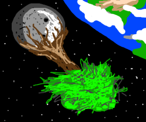 a giant tree is growing on the moon! :0