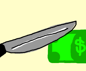 Knives can now cut Money in wallet