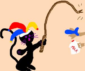 Cat with a bullwhip