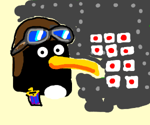 Beware of flying penguins