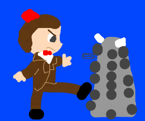 The Doctor wants to kung-fu a dalek