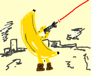 Banana firin' hiz lazor