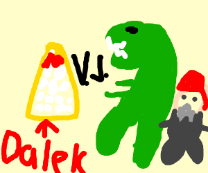 Dalek takes on Reptar and a Rabbi