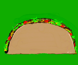 Beef taco, literally