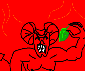 Devil doesn't like spinach