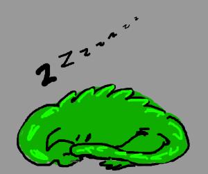 lizardsaur sleeping