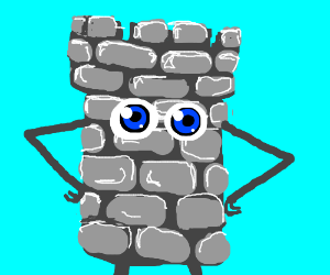 Castle-person with SPARKLING blue eyes!