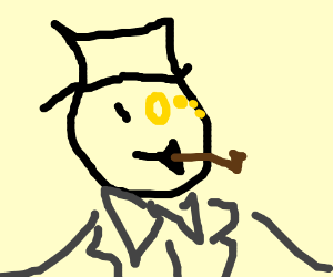 Fancy man with a monocle