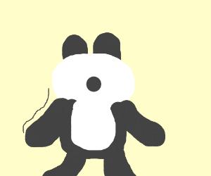 violently shaking panda