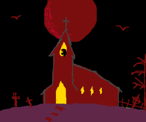A spooky cathedral