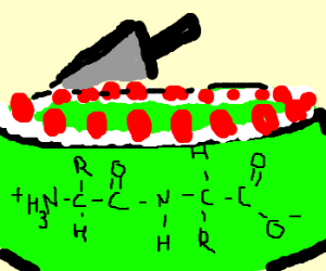 Peptide Cake With Mint Frosting
