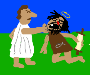Saul (before Paul) heads out on his daily duty