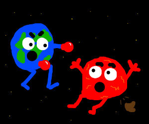 Earth would kick the crap out of Mars.