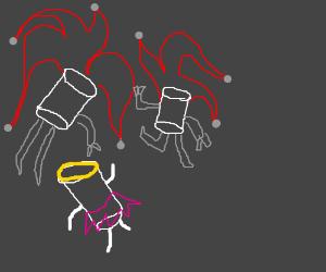 Marshmellow-Man-Joker-Cyclops composite being