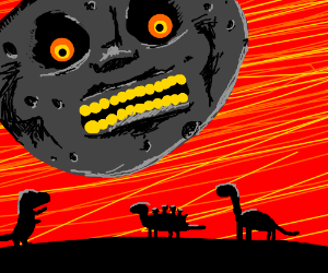 The moon killed the dinosaurs!