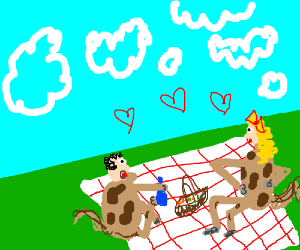 Centaur Lovers share a nice Picnick