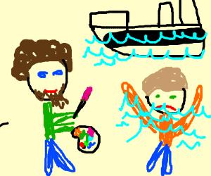 Bob Ross meets Jack on the Titanic