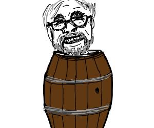 Miyazaki in a barrel