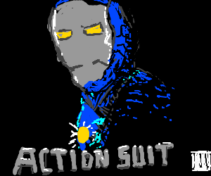 """generic comic book movie titled, """"Action Suit"""""""