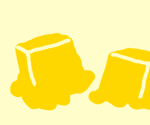melting butter cubes? (drawing by Schliam The Whorm)
