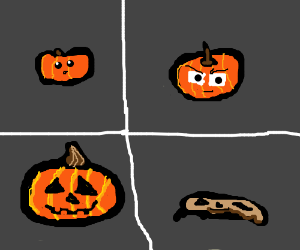 the life cycle of a jack-o-lantern