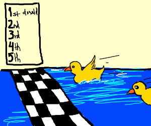The end of the duck race