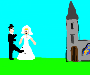 You may now kick the bride