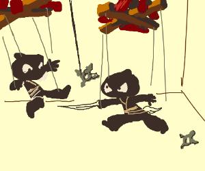 ninja marionette show