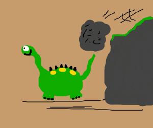Dinosaur blissfully unaware of impending doom