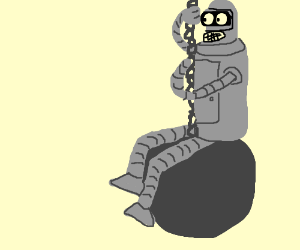 Bender in the 'Wrecking Ball' video