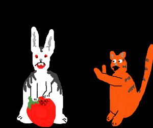 Were-rabbit protects berry from tiger