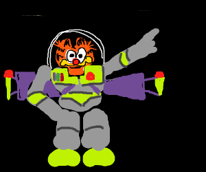 Garfield poses as Buzz Lightyear