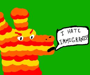 Racist Talking Pinata