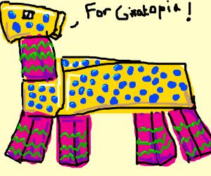 Piñata Giraffe harbors nativist sentiments.