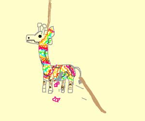 Piñata giraffe for Giratopia!
