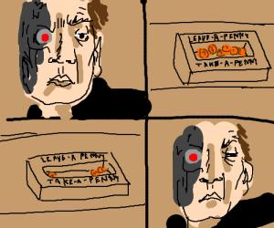 Terminator in a moral dilema