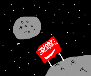 The last panel you drew… IN SPAAACE!