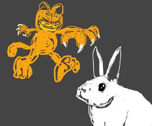 Garfield ready to strike a Snowrabbit