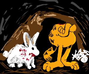 Garfield meets the killer bunny