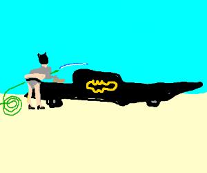 Batman washes Batmobile like Paris Hilton