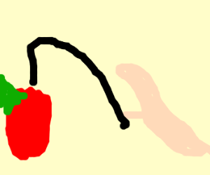 Evil Worm Overlord whips apple.