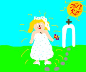 A pretty bride.