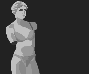 Venus sculpture models olde-worlde swimsuit