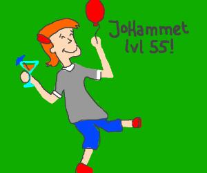 JoHammet reaches level 55 - Activate Congrats!