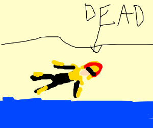 The law dies when at the beach.