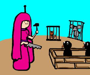 Princess Bubblegum builds a Zoo.