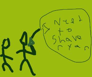 """Heheh """"Shaving Private Ryan"""""""