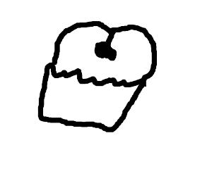 An asscream cupcake.